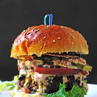 Beef and Pork Burger with Freakishly Good Homemade Mayo.