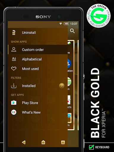 Screenshot for Black Gold for Xperia™ in Hong Kong Play Store