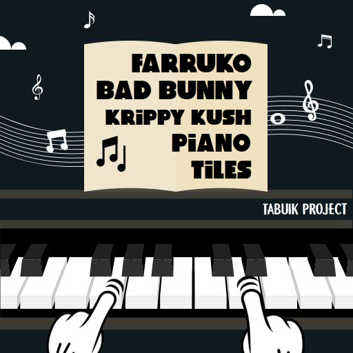 Farruko Bad Bunny Krippy Kush Piano Tiles