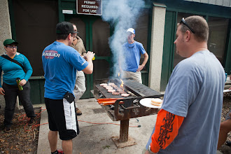 Photo: Bubba Burgers donated lunch for us, and Dan was our chef