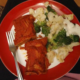 Chipotle Pumpkin Vegan Chorizo Enchiladas.