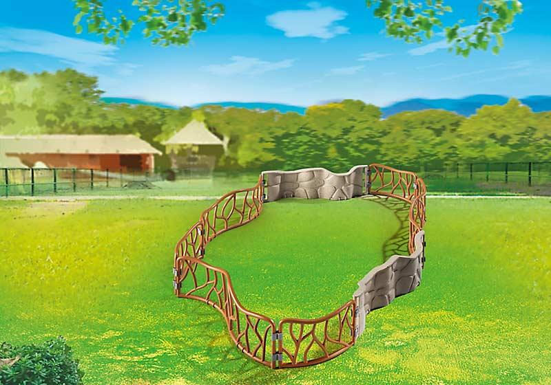Contenido Real de Playmobil® 6656 Vallas del Zoo