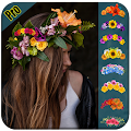 Flower Crown Makeup - Photo Collage Editor