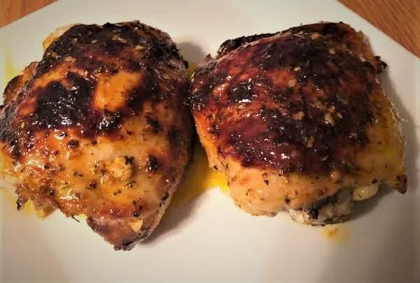 Baked Italian Chicken Thighs