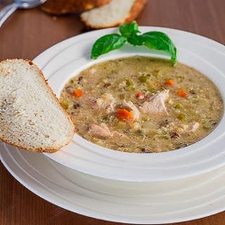 Crockpot Wild Rice, Quinoa and Chicken Soup.