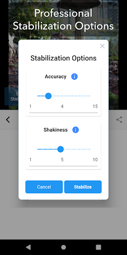 Deshake Video - Video Stabilization App Report on Mobile
