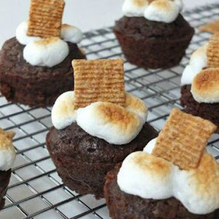 S'mores Brownie Bites