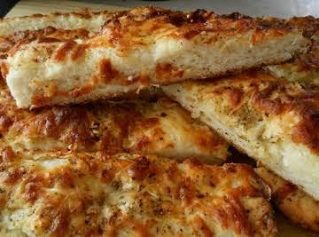 Cheesy foccacia bread sticks