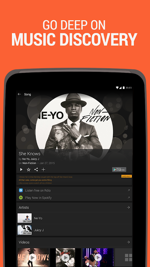 SoundHound Music Search - screenshot