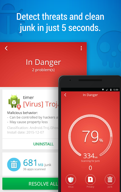 #1. CM Security AppLock AntiVirus (Android)