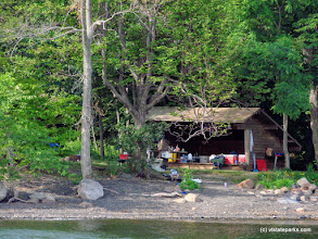 Photo: The Ironwood lean-to at Knight Island State Park by Sara Hayes