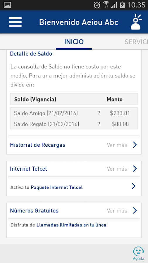 Mi Telcel- screenshot