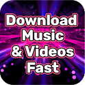 Download Free Music and Video Fast to Mobile Guide icon