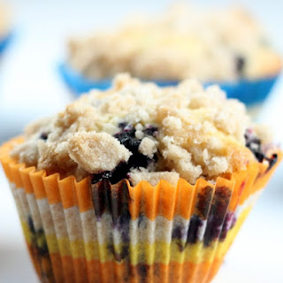 Blueberry Muffins with a No Fail Streusel Topping