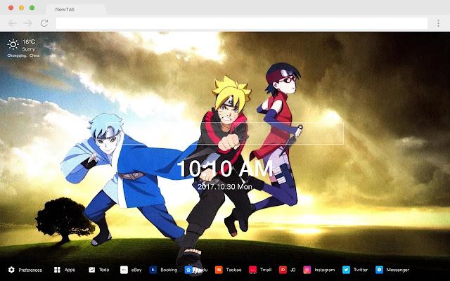 Naruto New Tab Page Pop Anime HD Theme