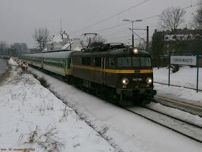 """Photo: EU07-186, IR """"Mamry"""" Międzylesie - Olsztyn Główny {Toruń Miasto; 2013-01-29}"""