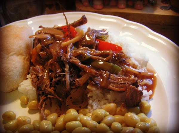 Serve over rice topped with a mushroom gravy.   I added sauteed onions and peppers...