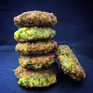 Vegan Cheezy Broccoli Fritters.