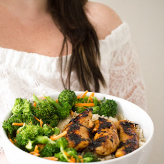 Grilled Chicken and Veggie Rice Bowl.
