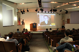 Photo: Chris Tumpach of Rainforest Automation joins in low-carbon style via Skype