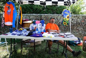 Photo: Bob Mitchell had jerseys for sale
