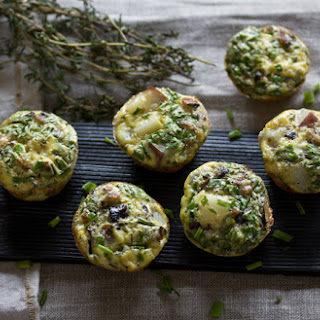 Mini Quiches With Jerusalem Artichokes + Chives