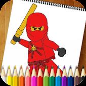Coloring Book Ninja Go