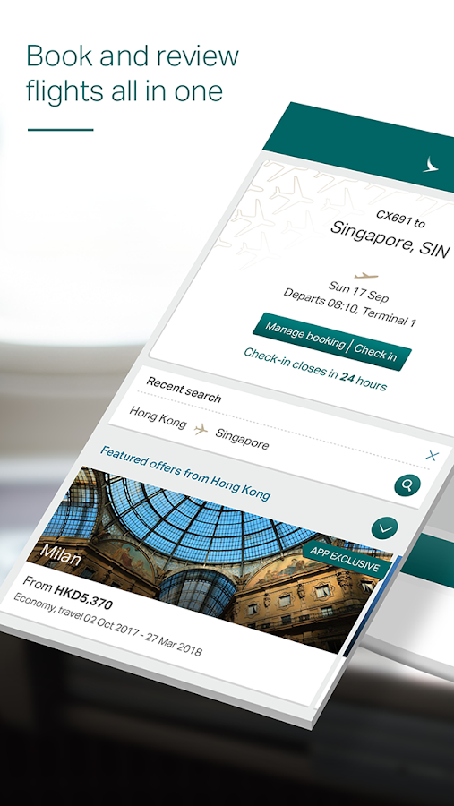 Cathay Pacific- screenshot