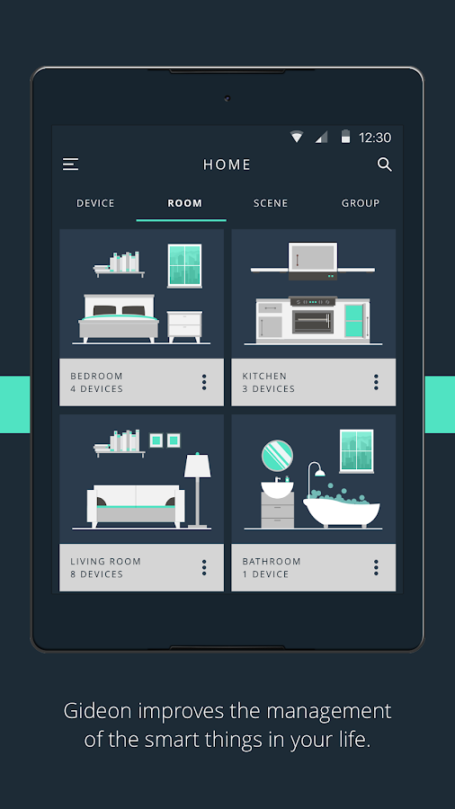 gideon smart home android apps on google play. Black Bedroom Furniture Sets. Home Design Ideas