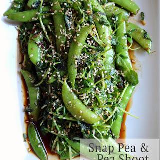 Snap Pea + Pea Shoot Stir Fry