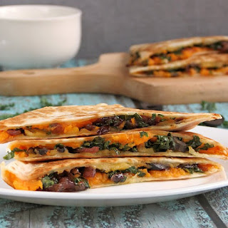 Kale Sweet Potato Quesadillas Recipe
