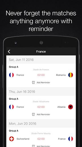 EURO 2016 - Football schedule