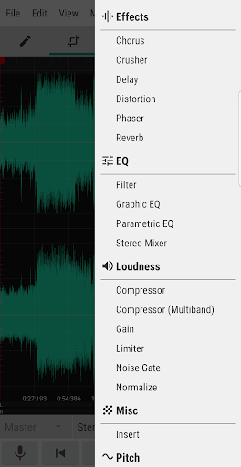 WaveEditor for Androidu2122 Audio Recorder & Editor 1.85 screenshots 5
