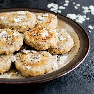 3 Ingredient Coconut Chia Energy Cookies.