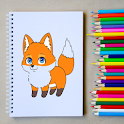 How to Draw a Fox Step by Step - FREE icon