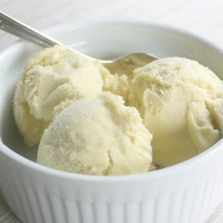 Rhubarb Ice Cream.