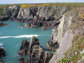 Photo: From Solva to St David's (bkgrd: Carreg Fran and Ramsey Island)