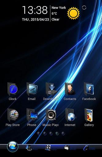 Theme Windows Black GoLauncher