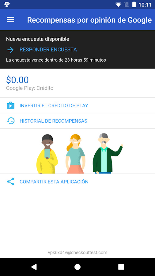 Google Opinion Rewards: captura de pantalla