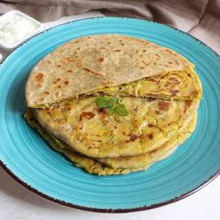 Cabbage & Dal Stuffed Paratha