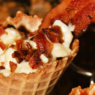 BBQ Bacon Mac and Cheese Waffle Cones Recipe