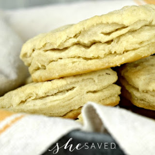 Homemade Buttery Flaky Biscuits from Scratch.