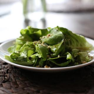 Salad with Pumpkin seed oil vinaigrette.