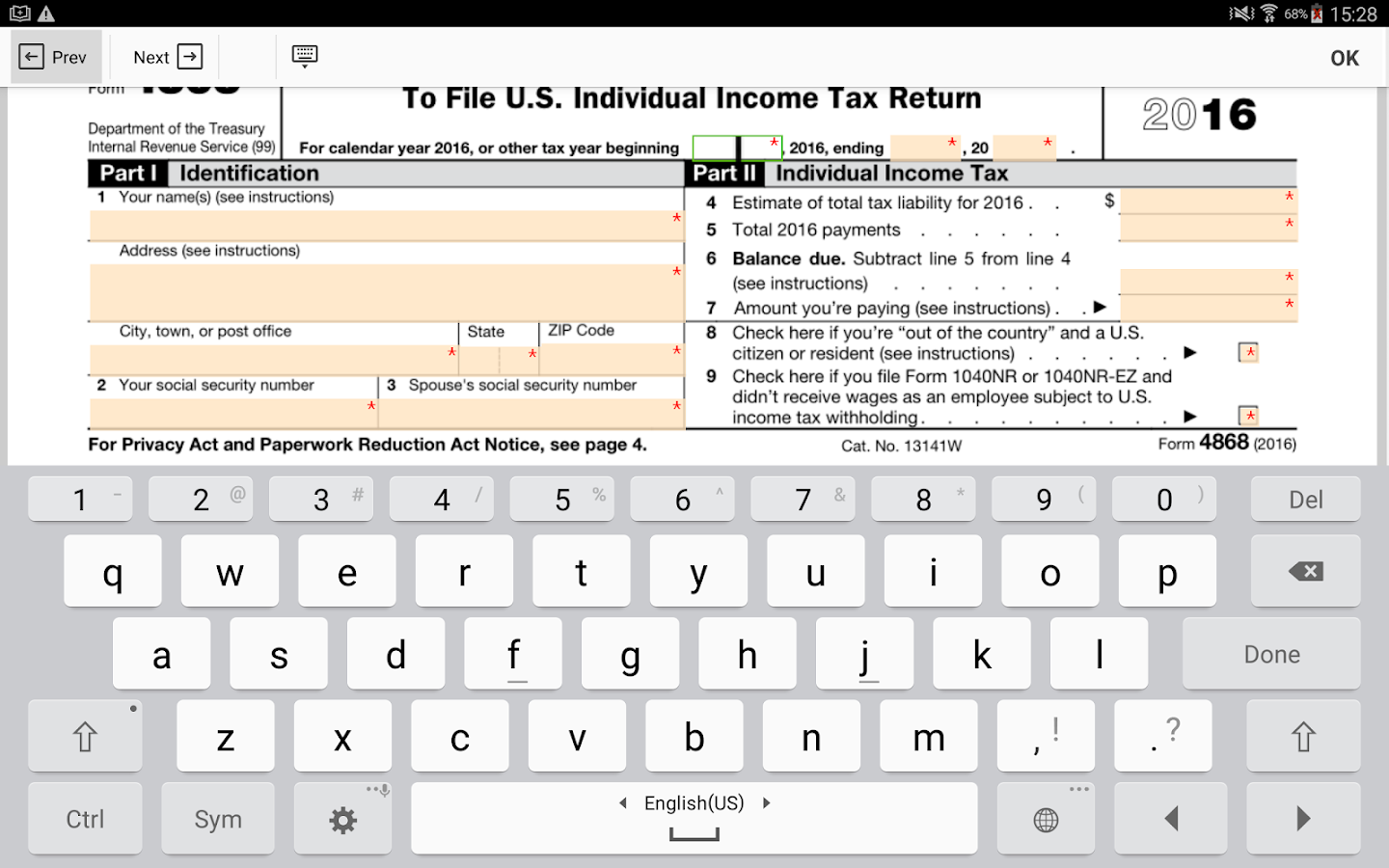 Irs 4868 form android apps on google play irs 4868 form screenshot falaconquin