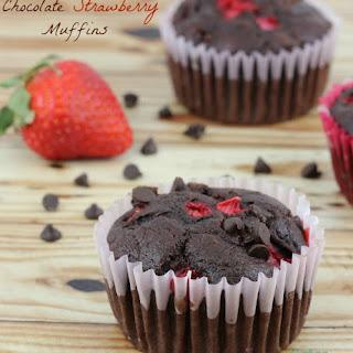 Chocolate Strawberry Muffins.