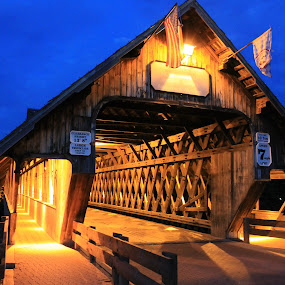 Covered Bridge  by Gary Poulsen - Novices Only Objects & Still Life ( covered bridge,  )