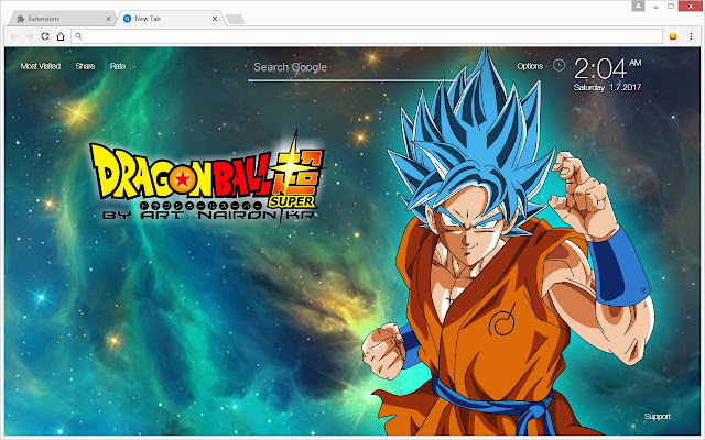 Dragon ball super dbz hd wallpapers new tab chrome web store runs offline voltagebd