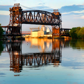 Joliet Illinois Historic Railway Lift Bridge by Sandra Rust - Buildings & Architecture Bridges & Suspended Structures ( joliet illinois historic railway lift bridge, #pixoto )