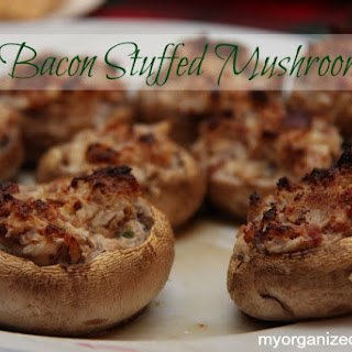 Bacon Stuffed Mushrooms Appetizer