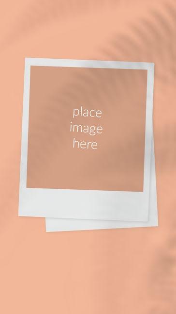Fern Polaroid - Facebook Story template
